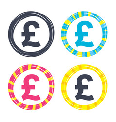 pound sign icon gbp currency symbol vector image