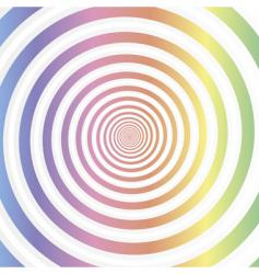 rainbow swirl abstract vector image vector image