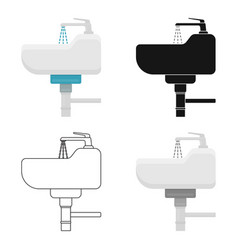 Sink icon in cartoon style isolated on white vector