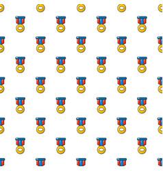 Sport medal pattern seamless vector