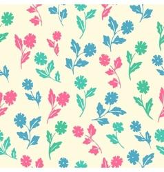 Stylish beautiful flower set simless patter vector