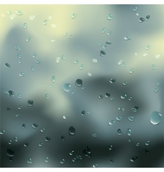 Water drops on glass vector image