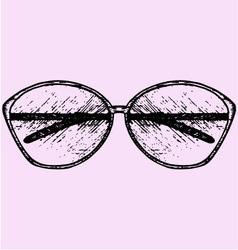 Womens fashion sunglasses vector