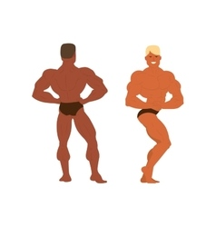 Gym fitness bodybuilder man vector