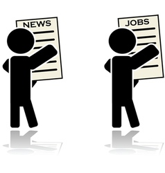 News and jobs vector image