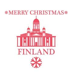 Merry christmas finland vector
