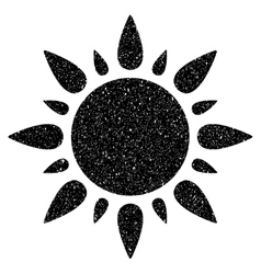 Sun grainy texture icon vector