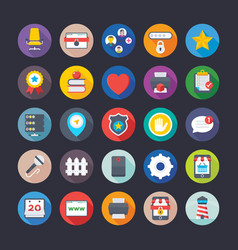 business and office icons 9 vector image