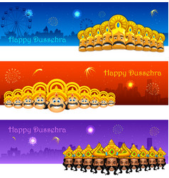 Happy dussehra vector