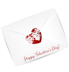 Valentine day envelope vector