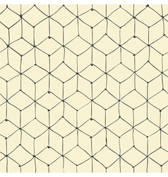 Seamless repeating cubes handdrawn pattern vector