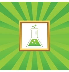 Conical flask picture icon vector