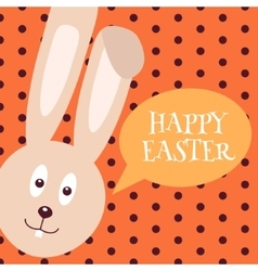 Greeting card with easter rabbit easter bunny vector