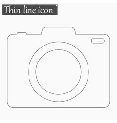 Camera icon style thin line vector