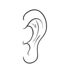 Ear icon medical and body part design vector