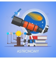 Astronomy science education concept poster vector