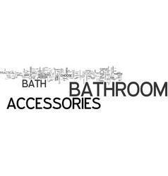 Bath accessories text word cloud concept vector