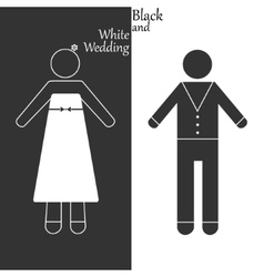 Black-and-white wedding vector
