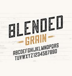 Blended grain vintage sans serif font design vector