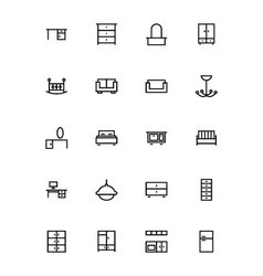 Buildings and furniture 8 vector