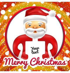 Christmas frame with Santa Claus vector image vector image