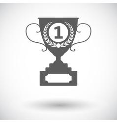 Cup single icon vector image vector image