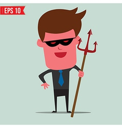 Devil Business man - - EPS10 vector image