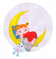 dreaming girl vector image