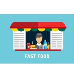 Fast food objects set water bottle juice vector