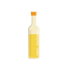 glass bottle of oil vector image