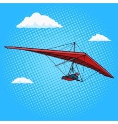 Hang glider pop art style vector