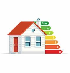 House energy efficiency icon vector