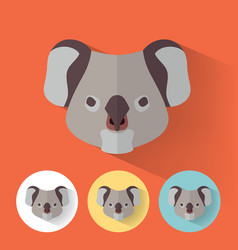 koala portrait with flat design vector image vector image