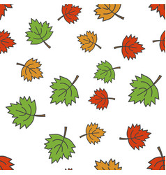 maple leaves flat seamless pattern on white vector image vector image