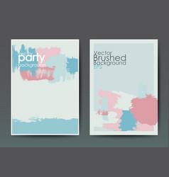 Modern brush postcard template vector