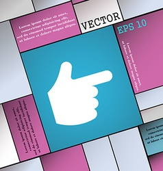 pointing hand icon sign Modern flat style for your vector image