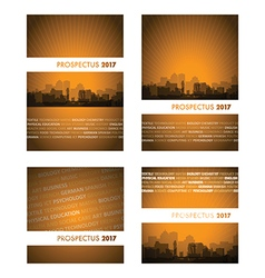Prospectus orange group vector