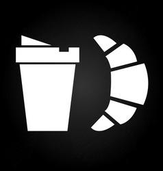 Refreshment coffee break with croissant vector