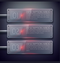 Web glass horizontal banners vector