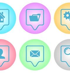 Website menu icons vector image