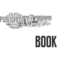 Will your book get published text word cloud vector