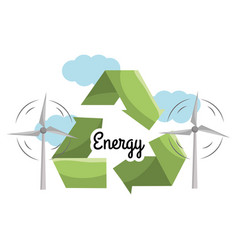Windpower with reduce reuse and recycle symbol vector