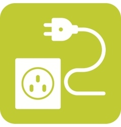 Wire and Plug vector image vector image