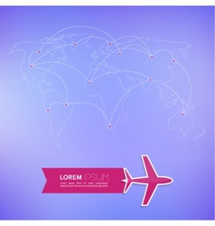 World map on a blurred background vector image