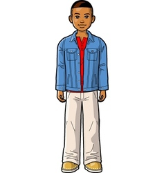 Young ethnic boy vector