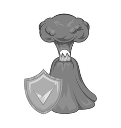Volcano eruption insurance icon vector