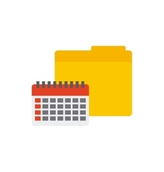 Folder with business icon vector