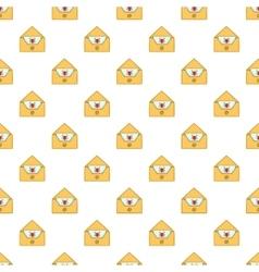 Virus in e-mail pattern cartoon style vector