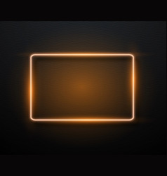 neon sign glowing neon frame vector image
