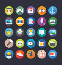 business and office icons 10 vector image